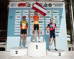 Die schnellsten 3 Herren: Georg Koch AUT, Thomas Strobl AUT, Michael Binder AUT
