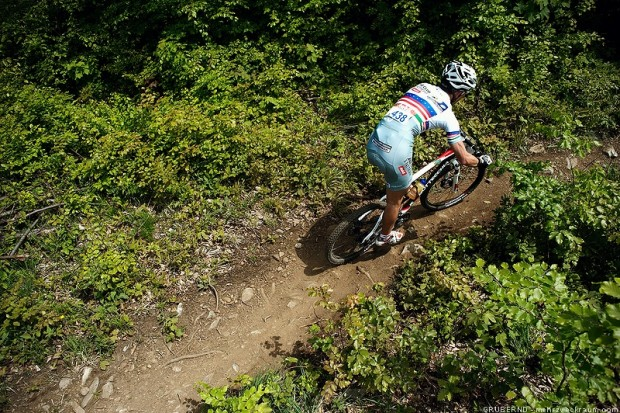 Teamrider Johannes Holas im Race-Einteiler<br />> Bikeclub GIANT Stattegg