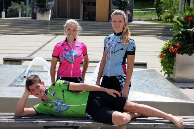 Foto auf Fotoshooting Leadertrikot 2015