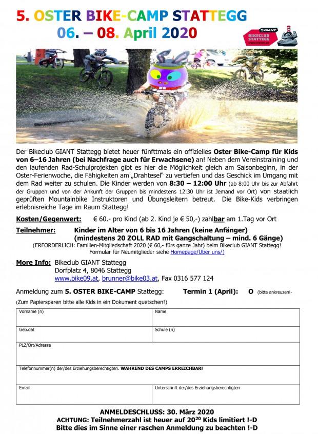 Foto auf Ousta BEik KEimp (Oster Bike Camp) 06. - 08.04.2020